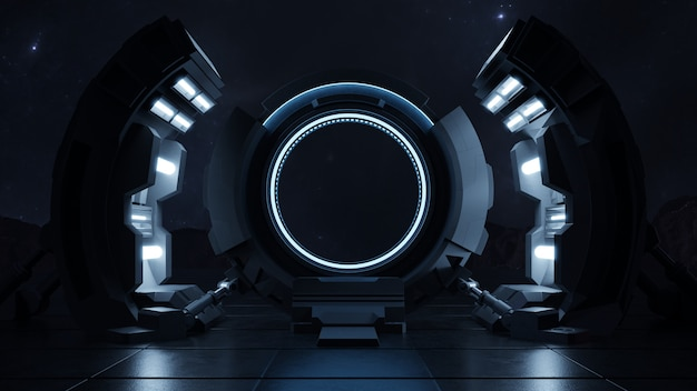 Viajando a través de la puerta del futuro con la velocidad de la luz.