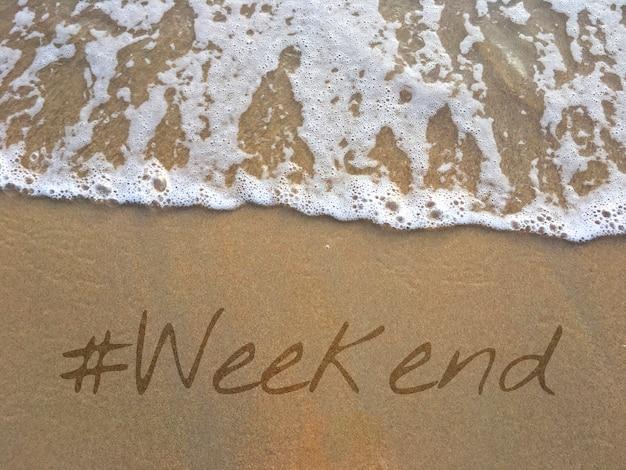 Vida estilo de vida vacaciones fin de semana palabra