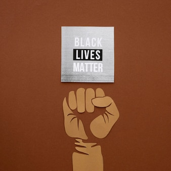 Las vidas negras importan la conciencia plana laicos