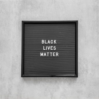 Las vidas negras importan con marco