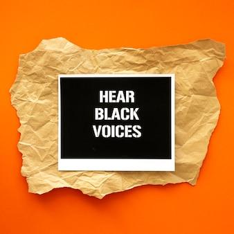 Las vidas negras importan el movimiento plano