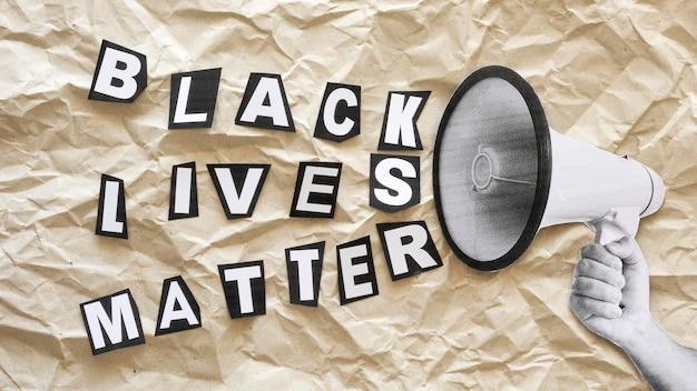 Las vidas negras importan el texto del concepto