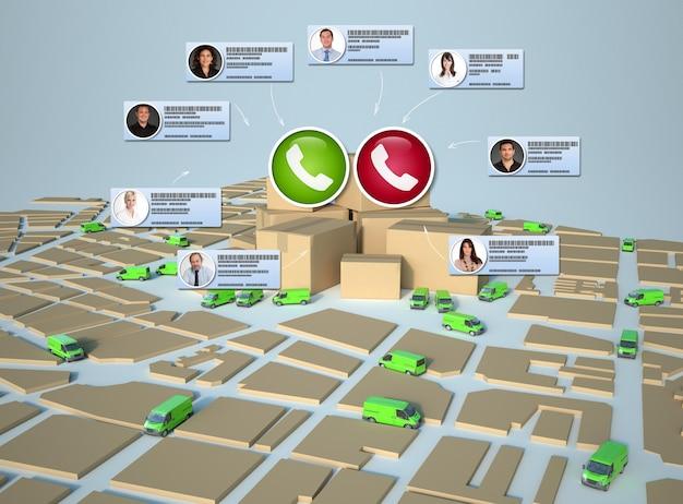 Videollamada que se lleva a cabo en un entorno de comercio electrónico y distribución.