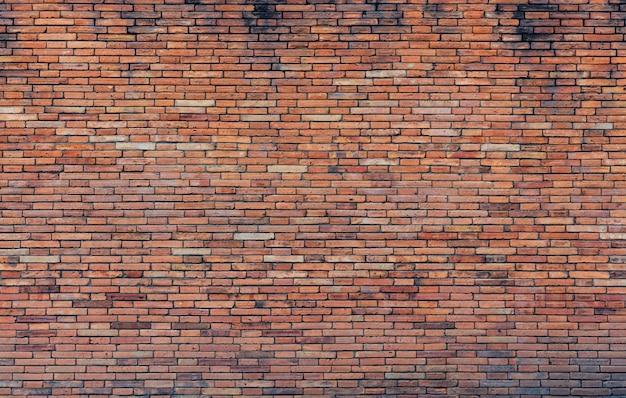 Vieja pared de ladrillo rojo