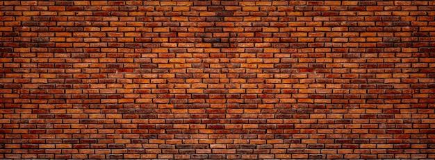 Vieja pared de ladrillos rojos.
