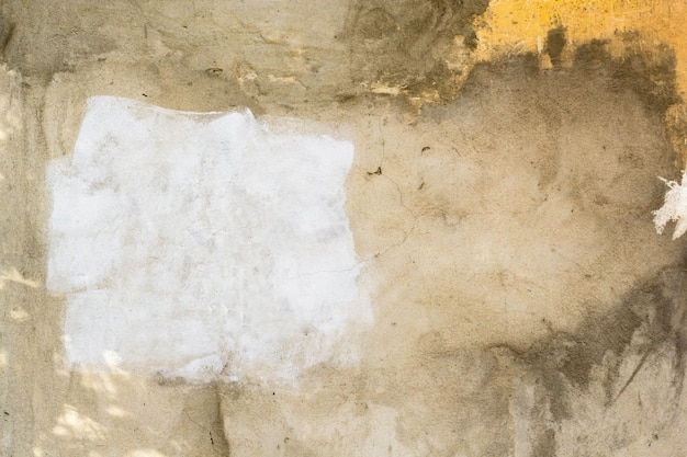 De la vieja pared sucia con pintado