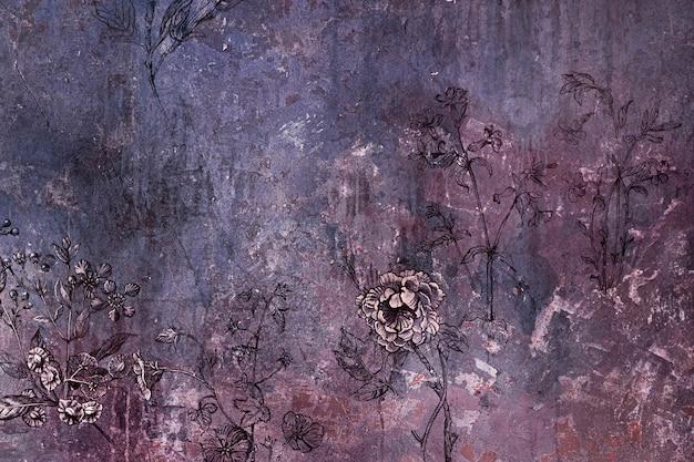 Vieja textura de fondo floral sucio
