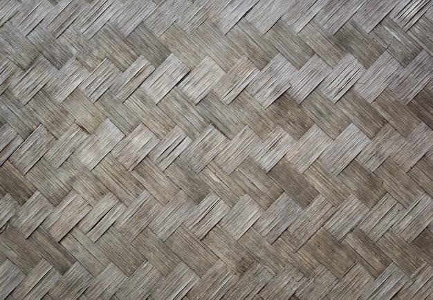 Vieja textura de madera de bambú para el fondo