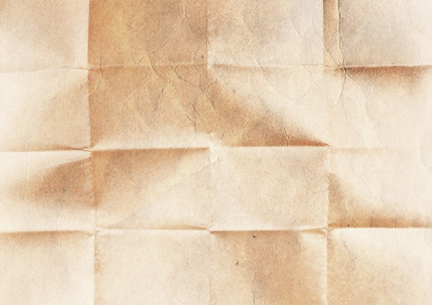 Vieja textura de papel doblado.