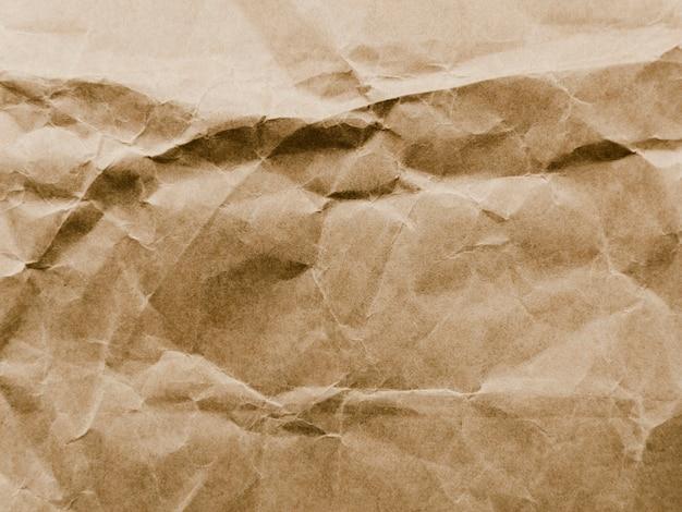 Vieja textura de papel de pergamino arrugado