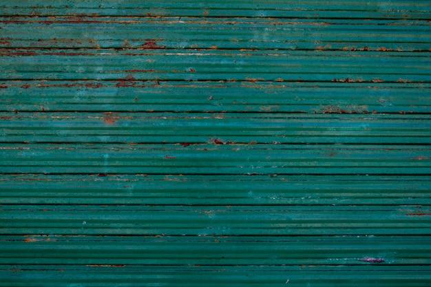 Un viejo acero verde galvanizado - textura de fondo