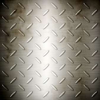 Viejo diamante de acero cepillado placa textura de fondo
