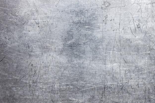 Viejo fondo de chapa, superficie de plata cepillada de hierro