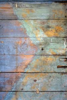 Viejo fondo de tablero de madera multicolor