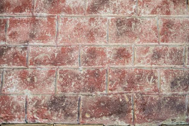 Viejo fondo de textura de pared de ladrillo rojo