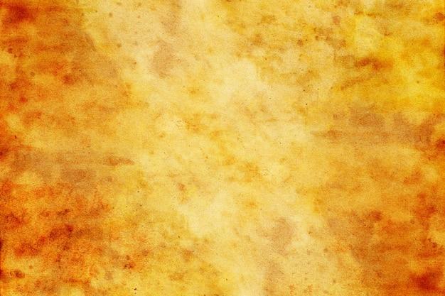 Viejo grunge de papel amarillo marrón