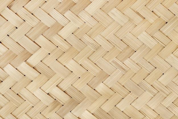 Viejo patrón de tejido de bambú, textura de estera tejida de ratán y diseño de obras de arte.
