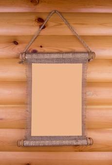 Viejo rollo de madera