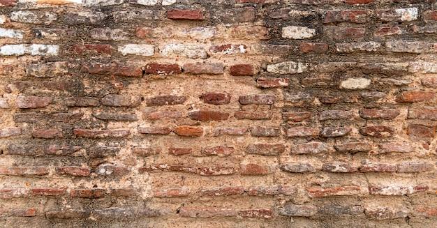Viejos fondo y textura rojos de la pared de ladrillo.