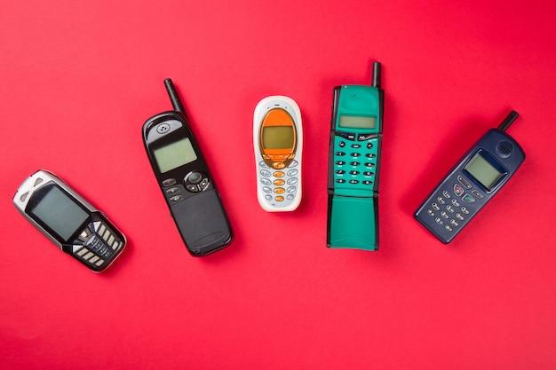 Viejos teléfonos móviles
