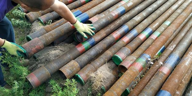 Viejos tubos de perforación de segunda mano
