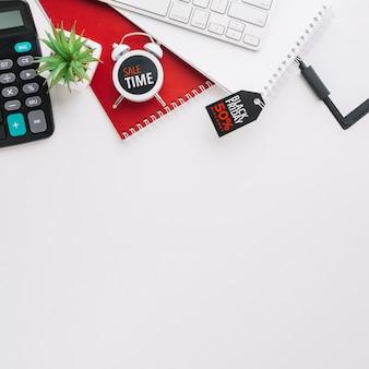 Viernes negro calculadora y teclado