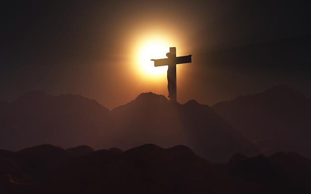 Viernes santo en un atardecer