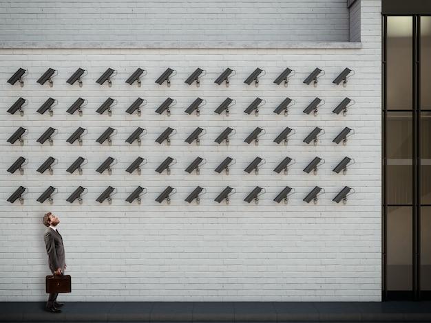 Bajo vigilancia. renderizado 3d