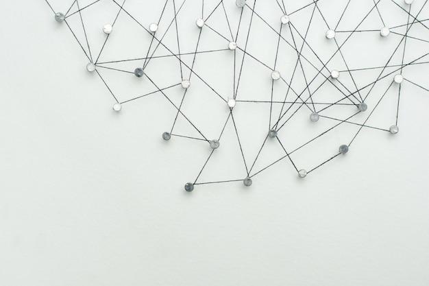 Vinculando entidades. red, redes, redes sociales, resumen de comunicación de internet