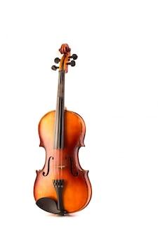 Vintage retro violín aislado en blanco