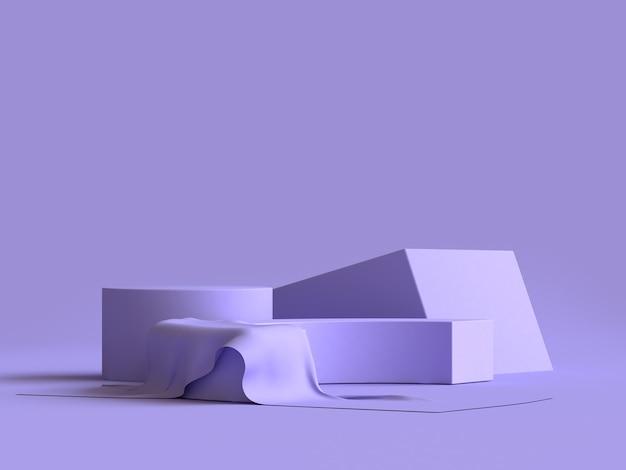 Violeta-púrpura escena grupo de formas geométricas