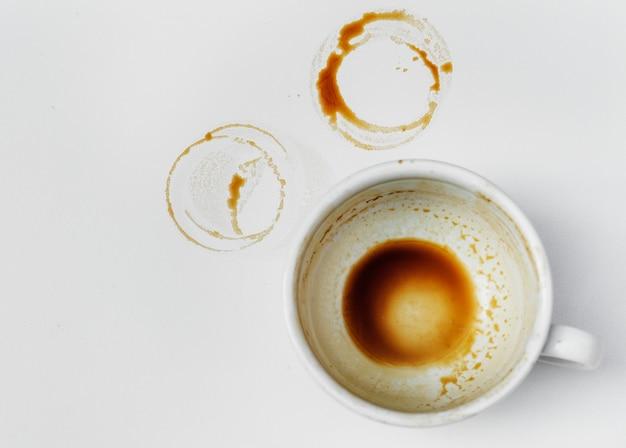 Vista aérea de café caliente.