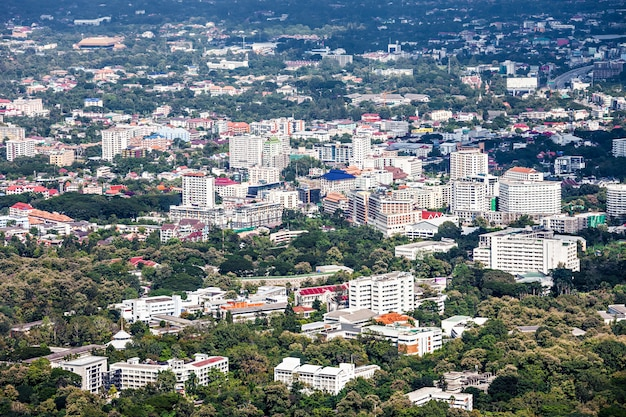 Vista aérea de chiang mai en tailandia