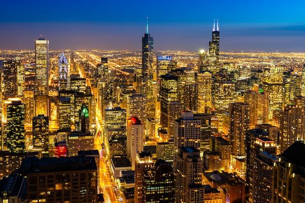 Vista aérea de chicago skylines south