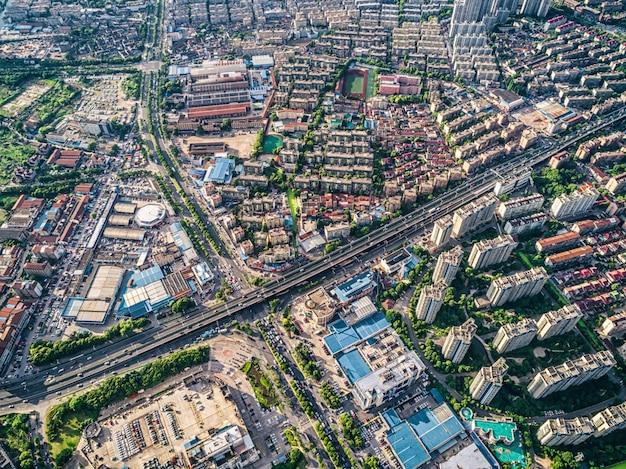 Vista aérea de la ciudad china