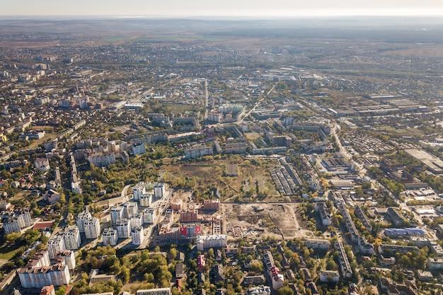 Vista aérea de la ciudad de ivano-frankivsk, ucrania.