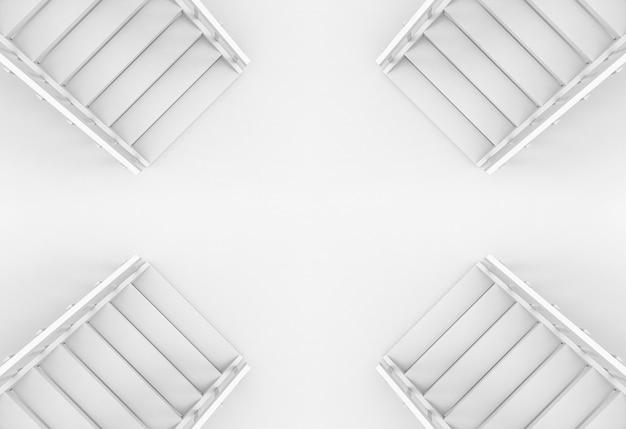 Vista aérea de fondo de escaleras de manera diferente dirección.