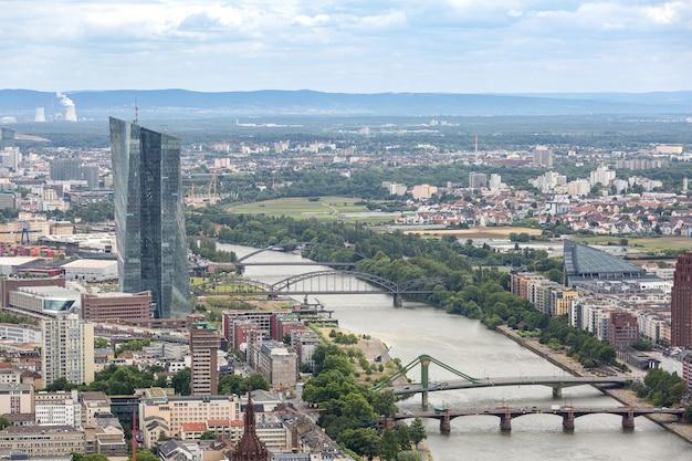 Vista aérea de frankfurt alemania