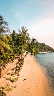 Vista aérea de la isla de koh samui. tailandia