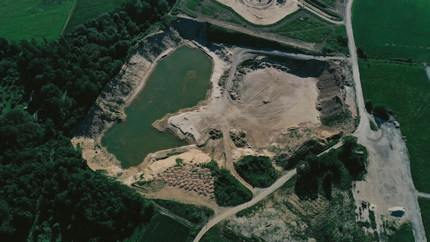 Vista aérea del lago
