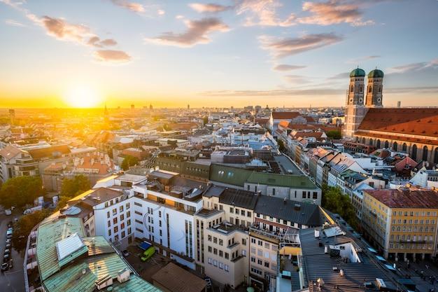 Vista aérea de munich, alemania