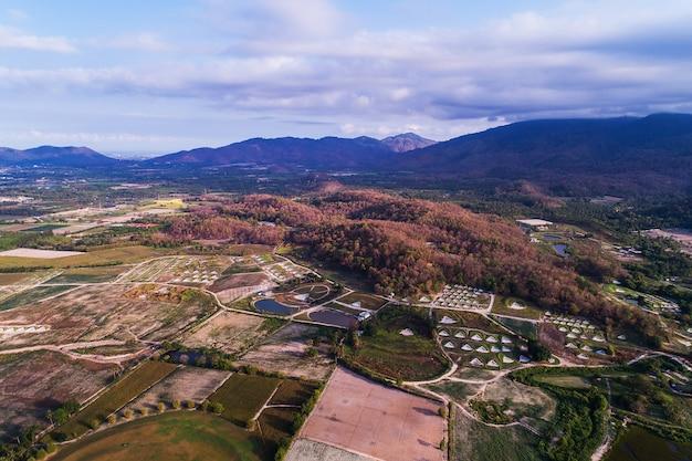 Vista aérea del paisaje.