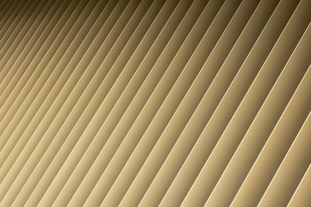 Vista de ángulo de degradado beige 3d rayas. louvre persianas como patrón y sombra.