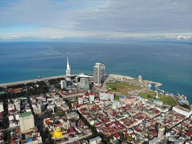 Vista desde arriba foto de paisaje perfecto viajes aéreos fotografía de mar