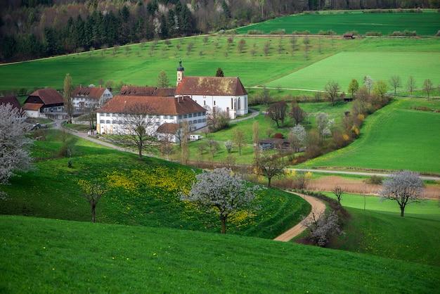Vista desde arriba del monasterio de olsberg.