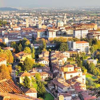 Vista de bérgamo, italia