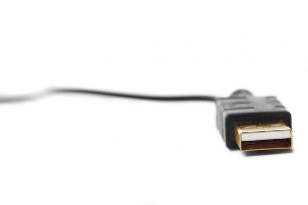 Vista de un cable usb