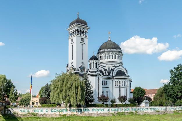 Vista de la calle en sighisoara, ciudad medieval de transilvania, rumania