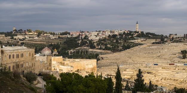Vista del cementerio, jerusalén, israel