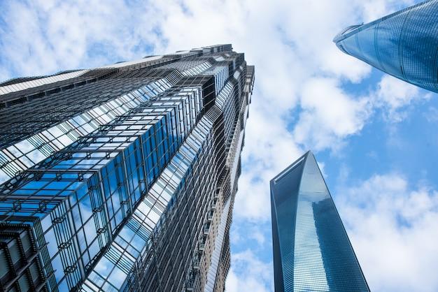 Vista del centro de la ciudad de shanghai, china.